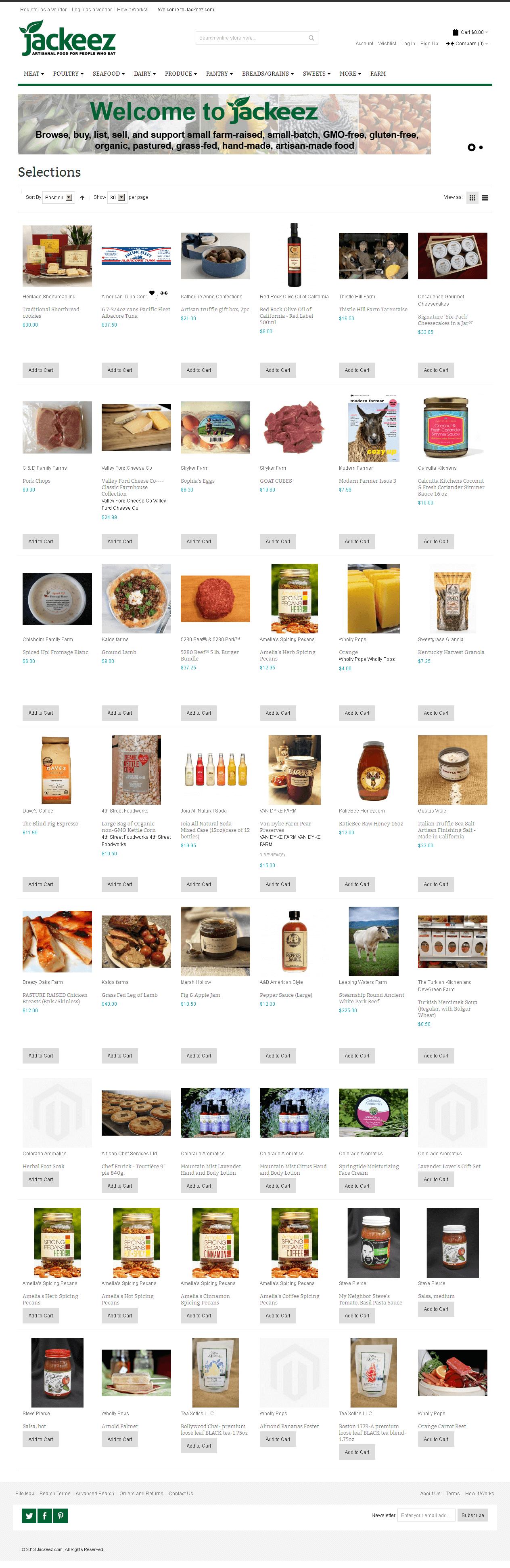Magento Website Consumer 'jackeez' – Online Food Marketplace