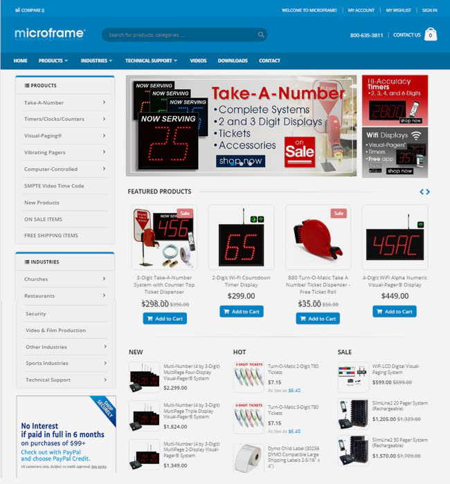 Magento Website Migration for Electronics Industry, Microframe