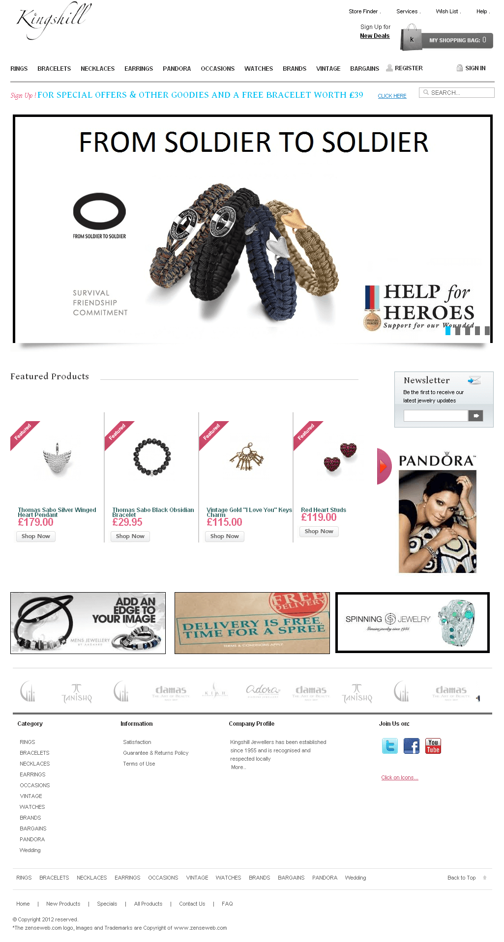 Magento Website for Consumer 'Kingshill' – Online Jewelry Store