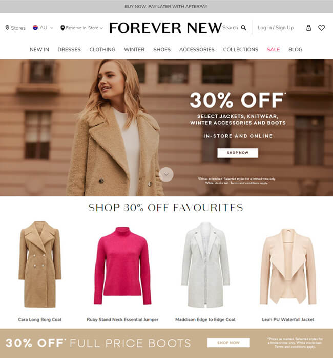 Magento Website Development for an Australian Clothing Store - Forever New