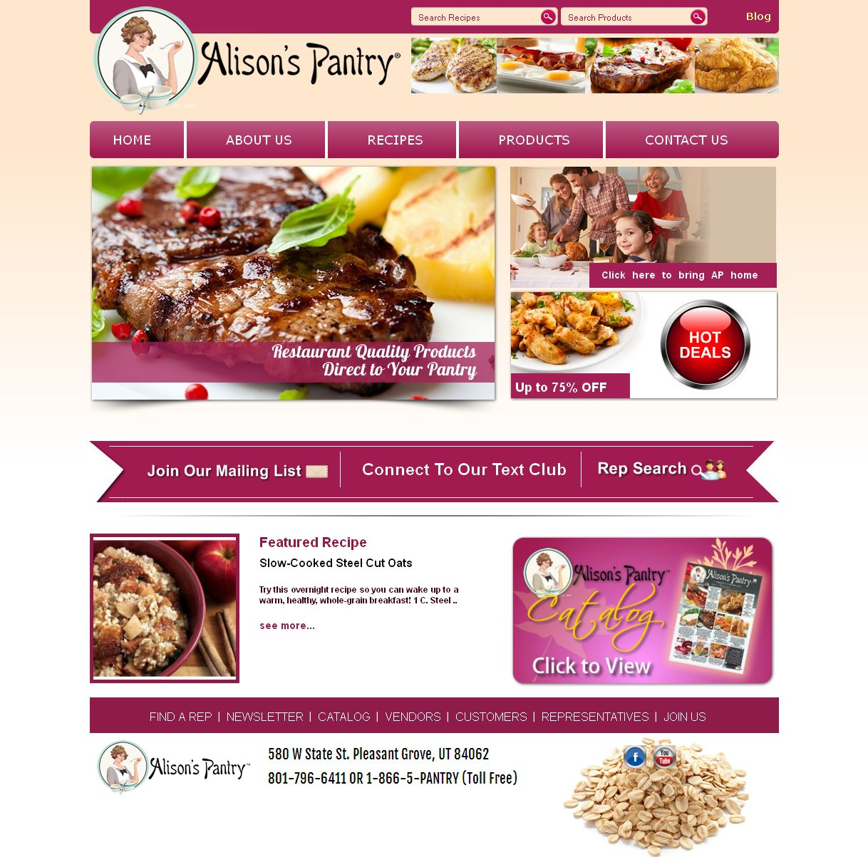 A Magento Based eCommerce Website for Food Products