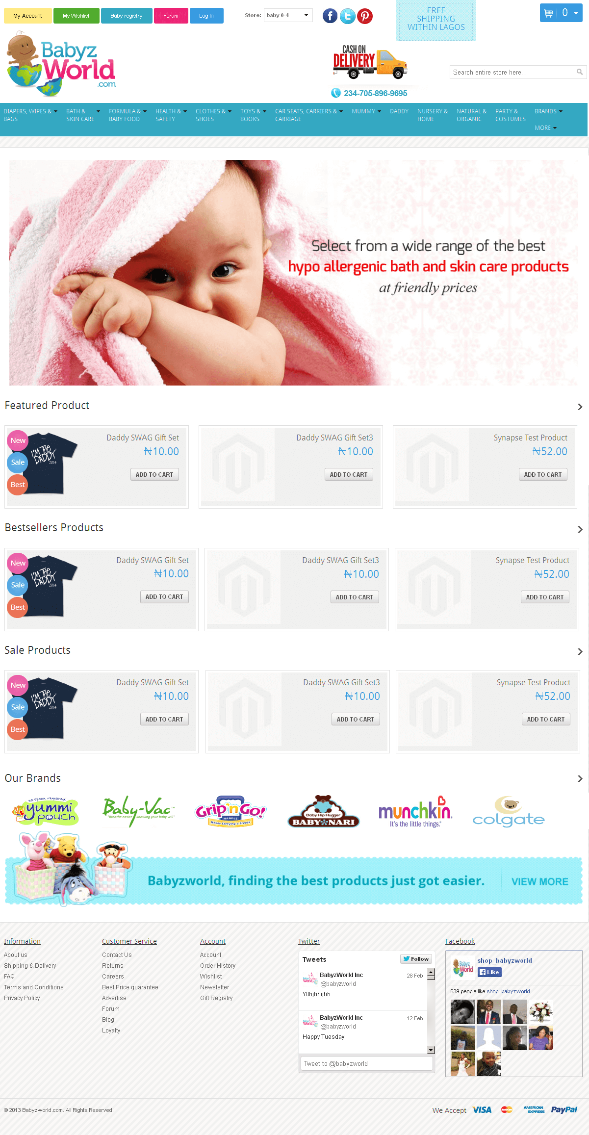 Development of a Magento Based Baby Care Products Store