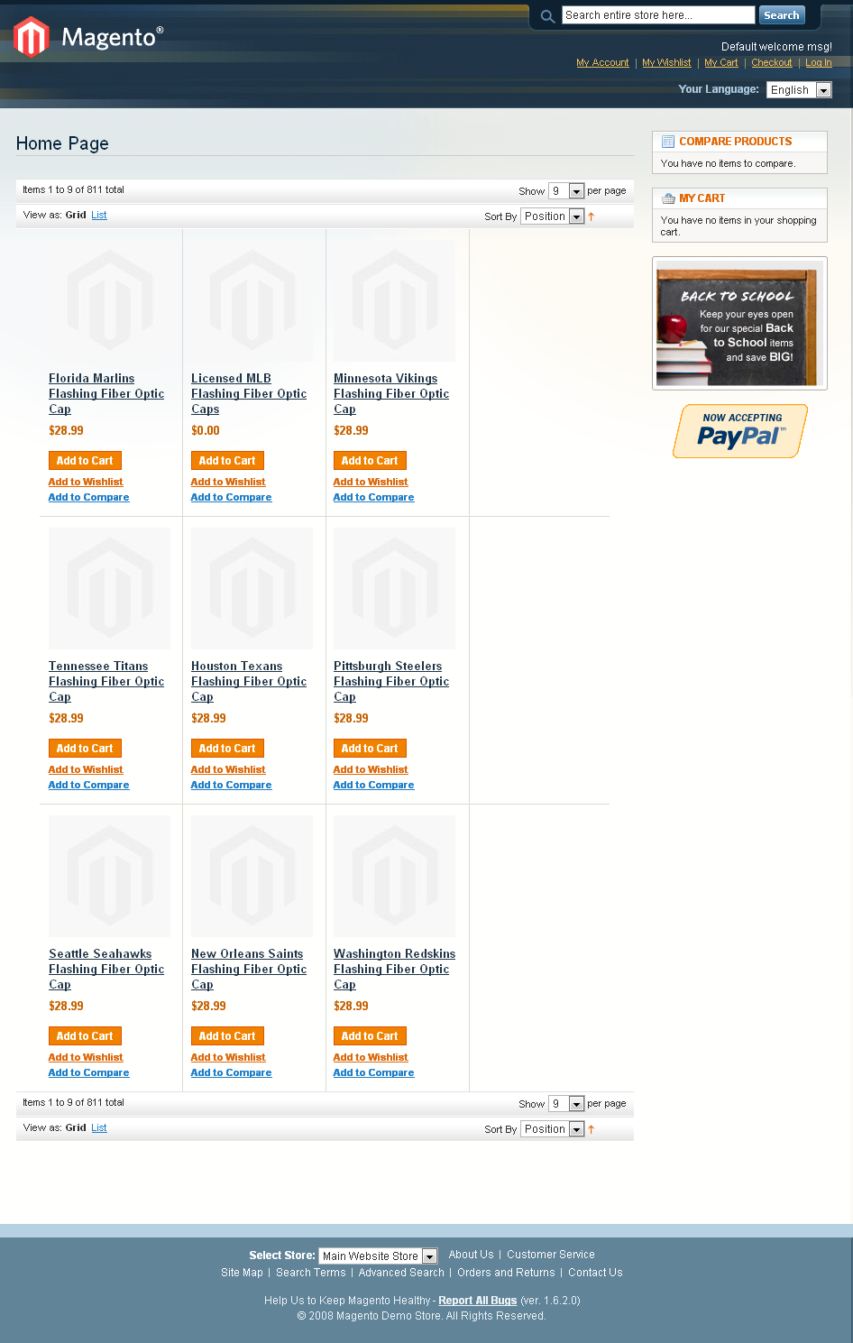 Magento Website for Web Hosting Service Provider 'Blinkee'