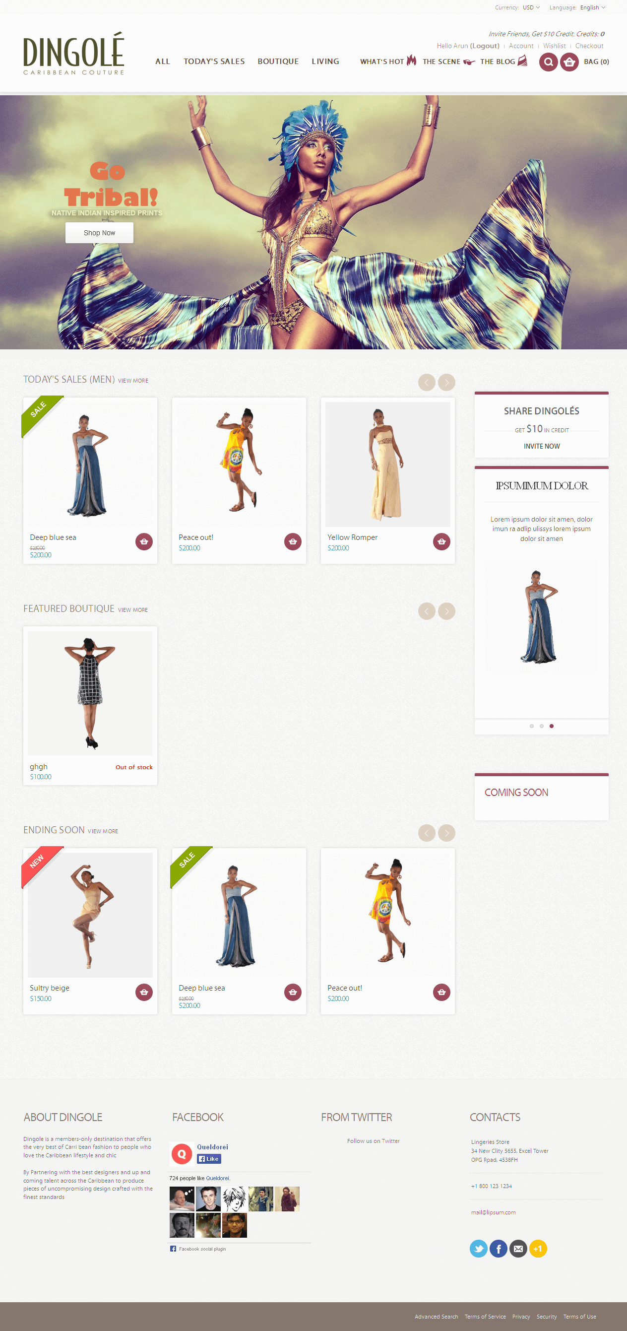 Development of a Magento Based Online Cloth Marketplace