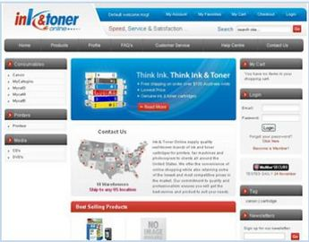 Magento Website for Printer Ink & Toner Supplier 'Ink & Toner Online'