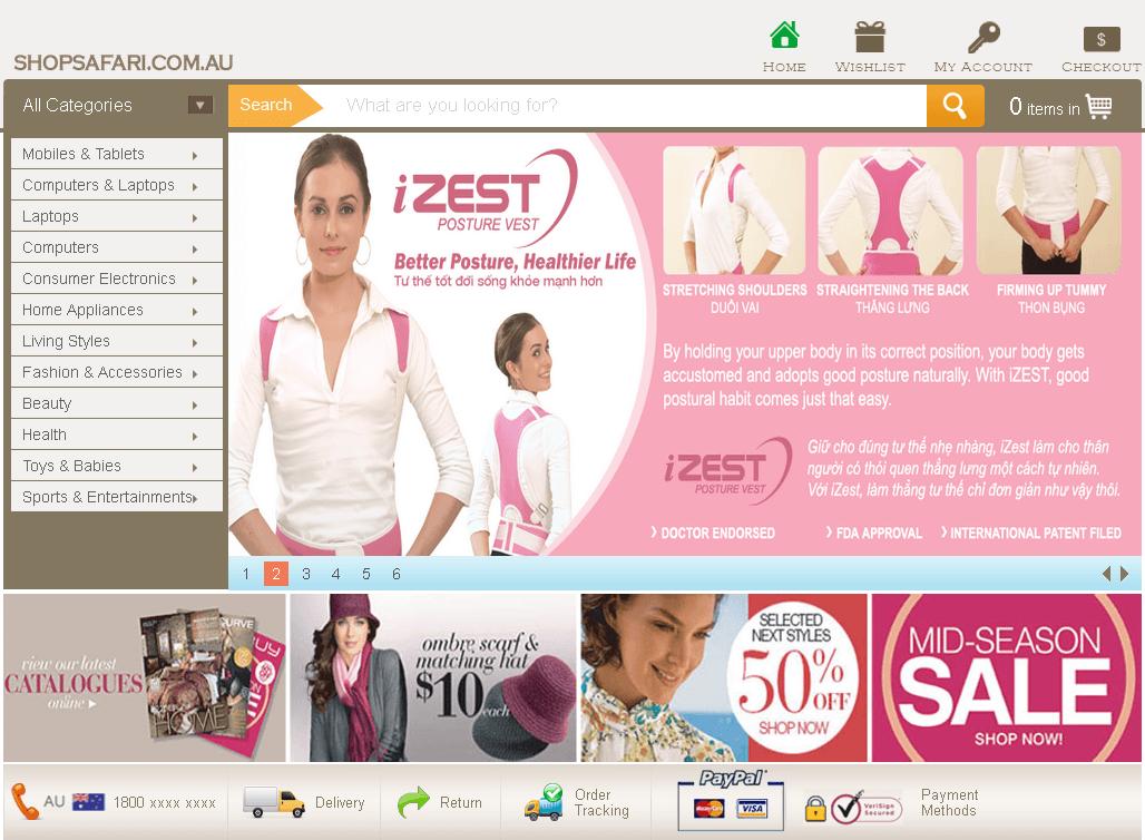 Shop Safari - A Magento Based E-store