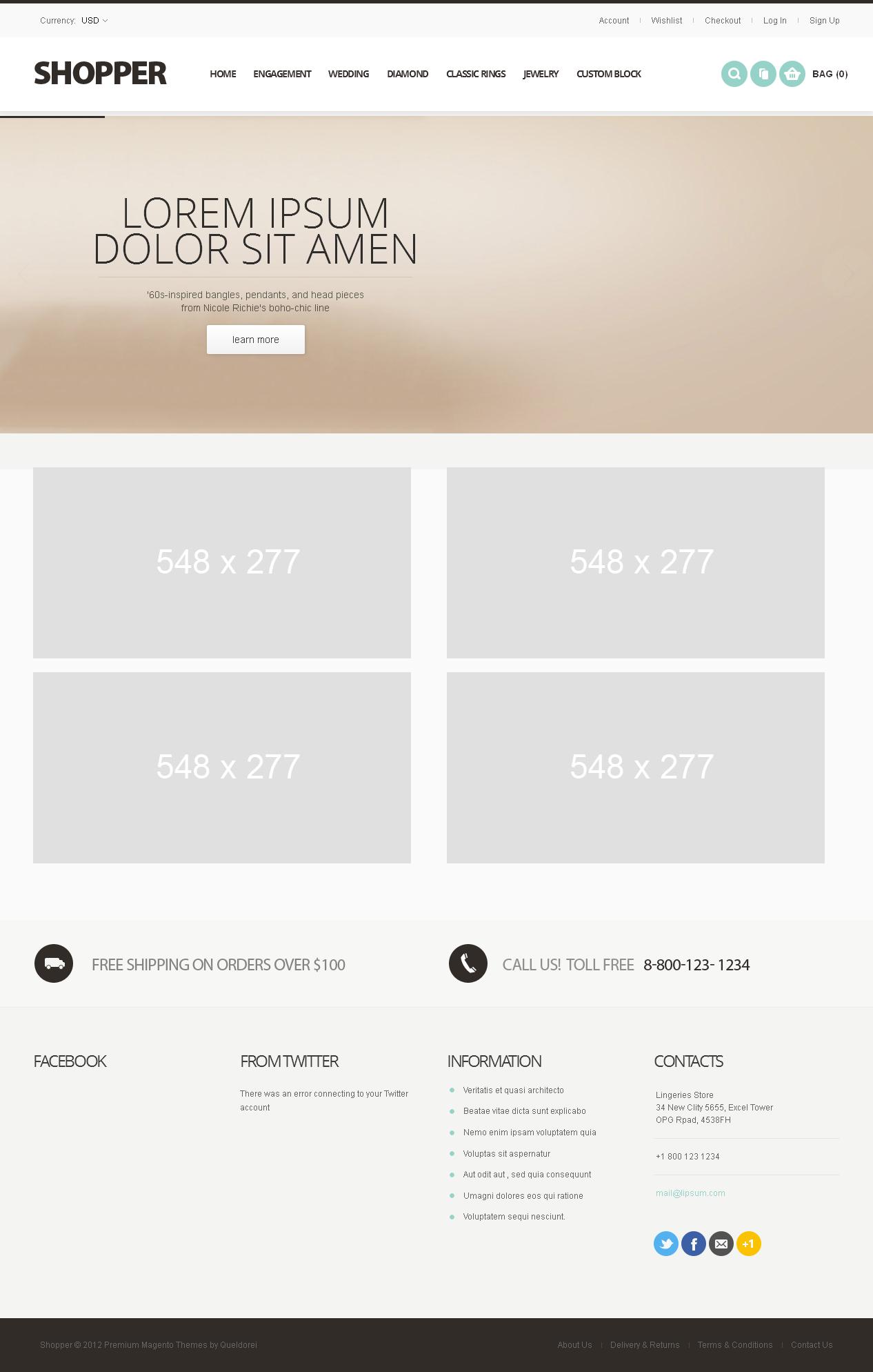 Magento Website for 'SHOPPER' – Multi-Store Ecommerce Platform