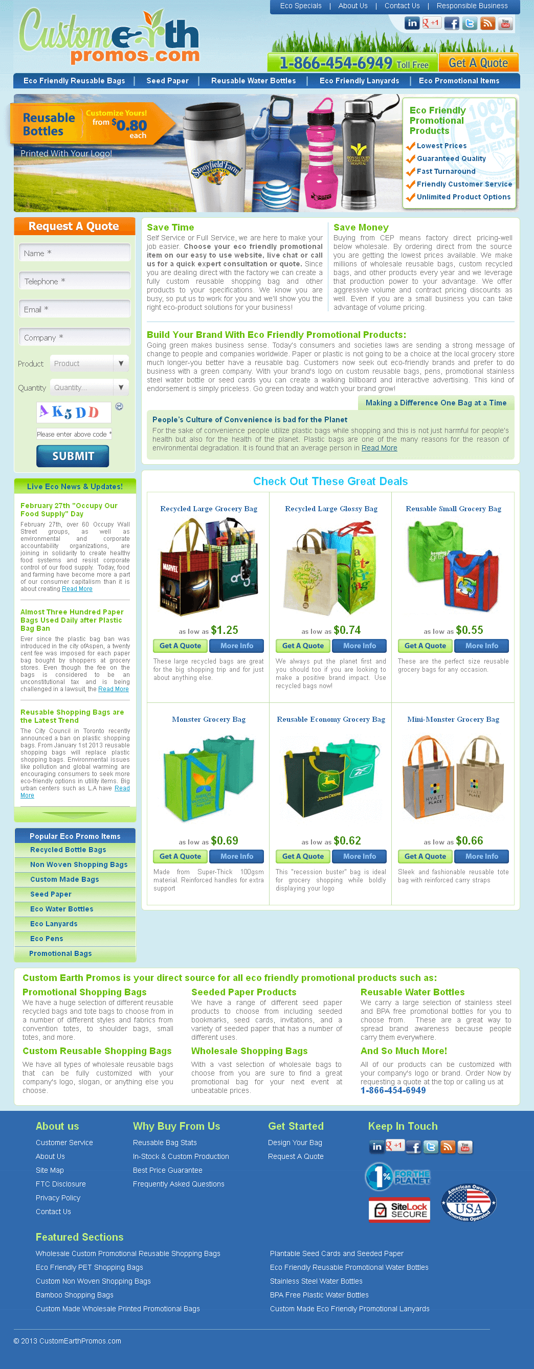 Shopping Cart for Selling Eco Friendly and Reusable Grocery Bags