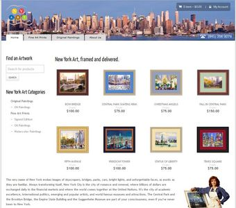 Magento Website for 'NYART'- Artworks, Digital Paintings & Photographs