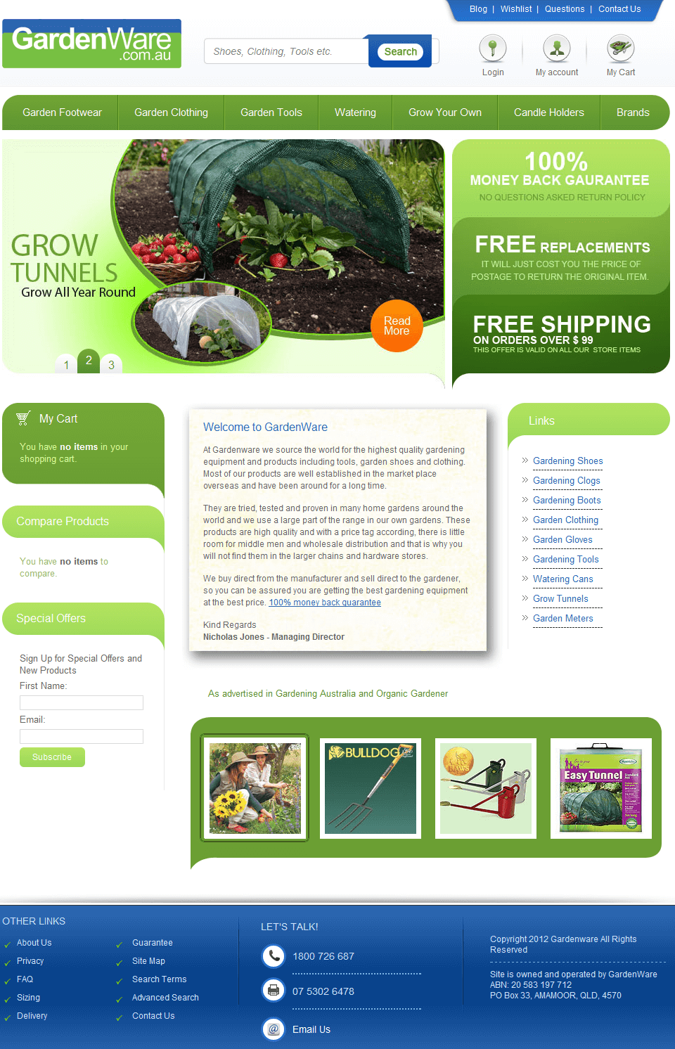 Enhancing Garden Ware: A Magento Based Website