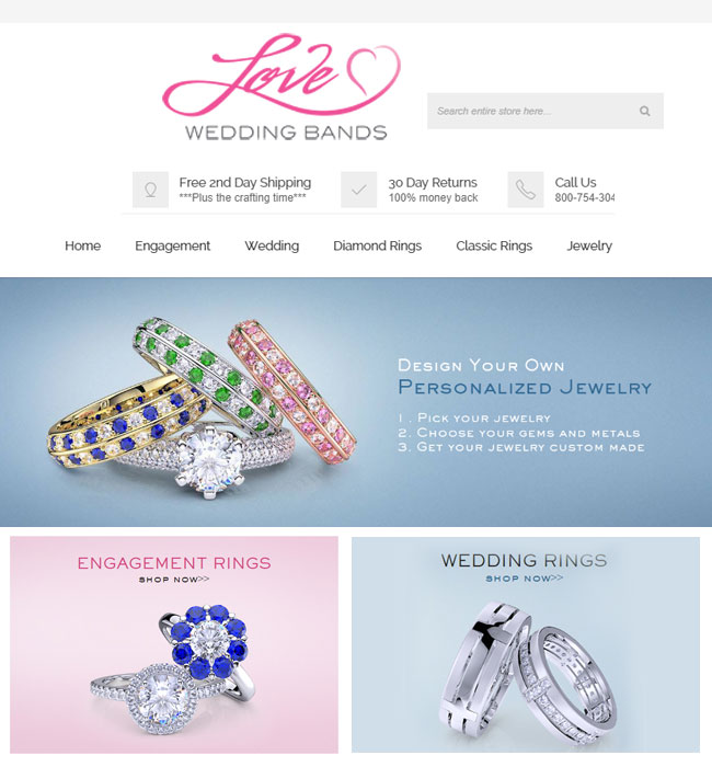 Magento Website Upgradation for Jewelry Industry in USA - LoveWeddingBands