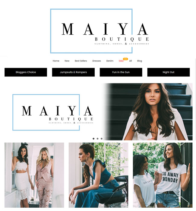 Magento Website Development for Fashion Industry in USA - Maiya Boutique