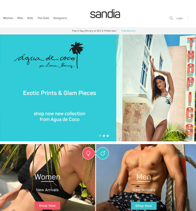 Magento Store Redesign & Development for Fashion Industry in UAE - Sandia