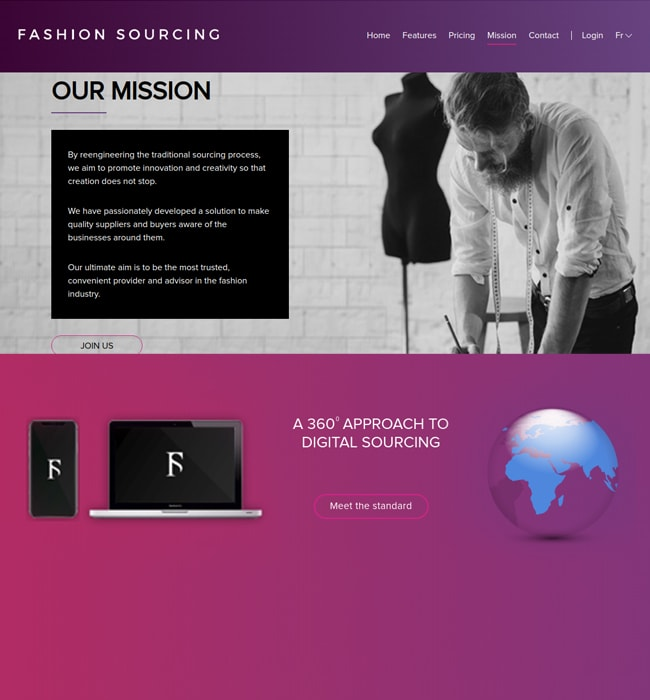 eCommerce Website Design & Development for Fashion Sourcing in France