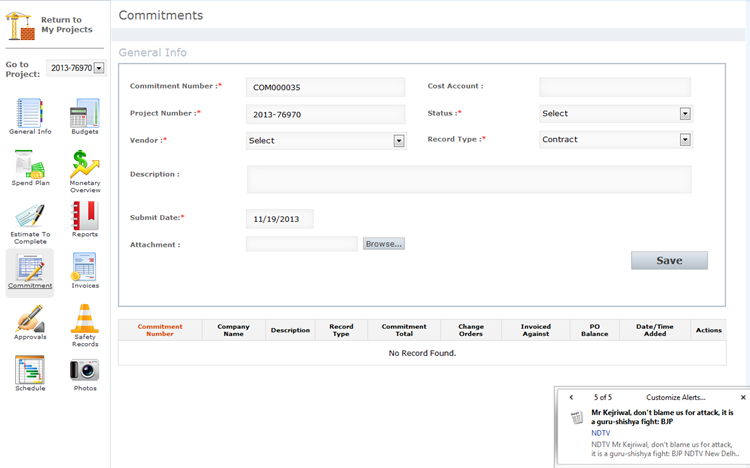Facility Management Software for 'mysmartcost' Using Dot Net