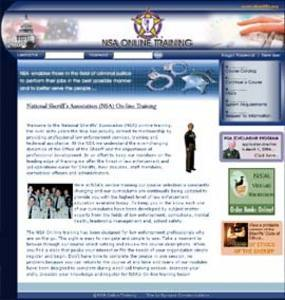 PHP Website for 'National Sheriffs Association (NSA)' - Online Training