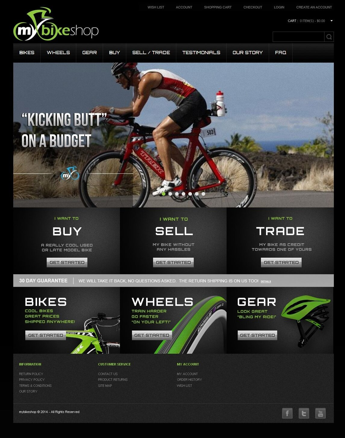 An OpenCart Website for Selling Bicycle & Its Accessories