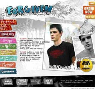 PHP Website for Retail 'FORGIVEN' - Online Jewelry & Garments Seller