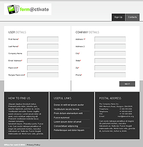 PHP Web Application for Subscription Based Service 'form@ctivate'