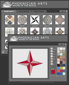 PHP Web Application for Mosaic Design Online 'Phoenician Arts'