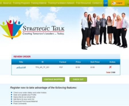 PHP Website for True Fitness & Nutrition Training Provider 'Strategic Talk'
