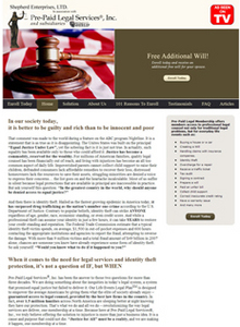 PHP Website for 'Shepherd Enterprises' – Prepaid Legal Services