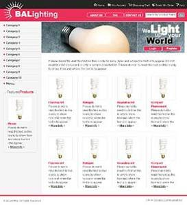 Development of PHP Based Website for Selling Lighting Products - Balighting