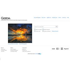 Website for Consumer 'Gostox' - Online Images Seller