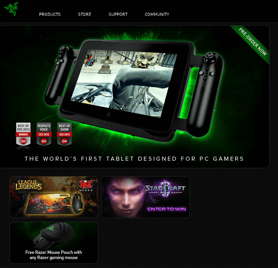 Website for Media 'RazerZone' Using PHP – Gaming Products