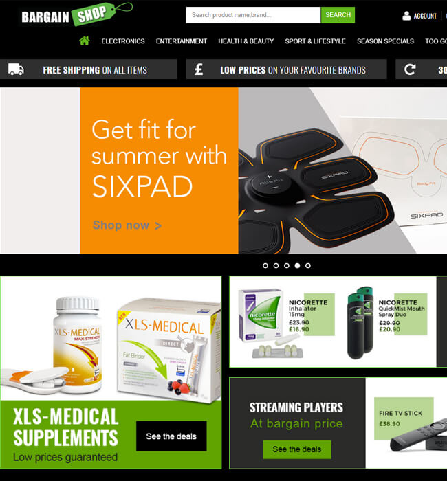 BigCommerce Website Enhancement for eCommerce Industry, UK – BargainShopUK
