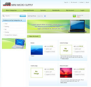 Website for Retail 'Mini Micro Supply' Using PHP