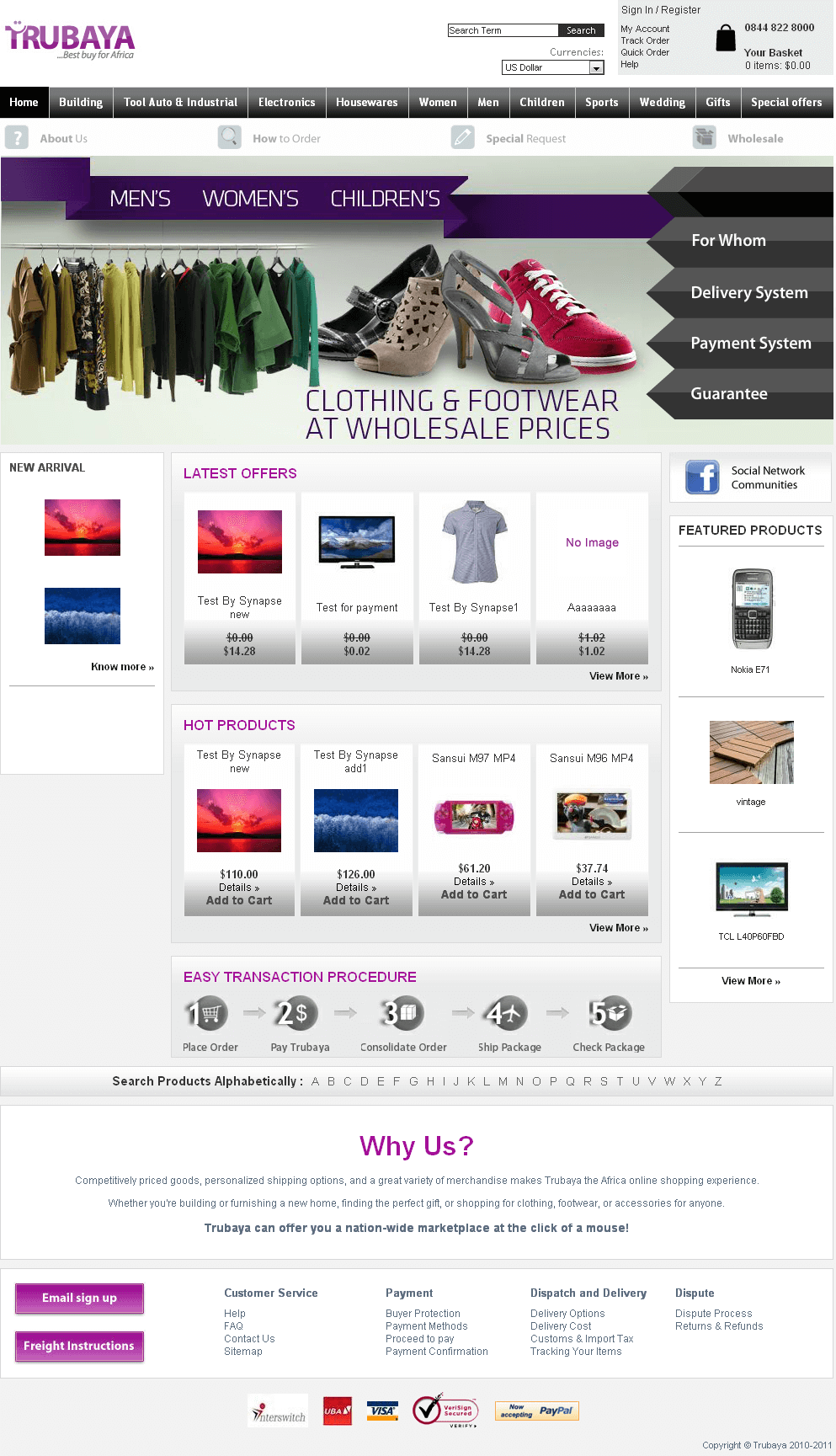Website for Retail 'TRUBAYA' Using PHP – Online Store