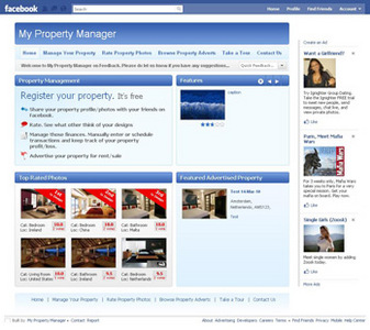Facebook Application for Real Estate 'Property Listing' Using PHP