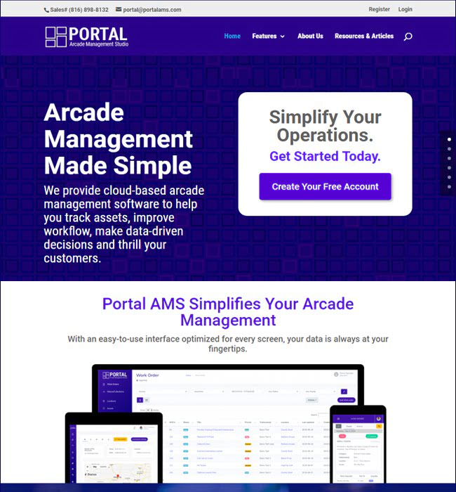 Laravel Web App Development for Amusement Industry, USA - Portal AMS