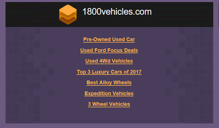 Enhancement of PHP Based Website -  1800vehicles