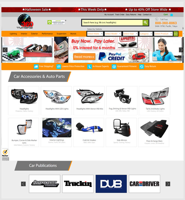 Development of A PHP Based Automobile Accessories Mobile Website