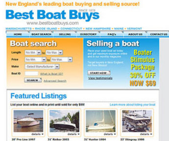 Website for Automotive 'Best Boat Buys' Using PHP – Boat for Sell & Rent
