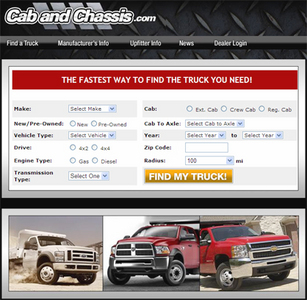Website for Automotive 'Cab and Chassis' Using PHP – Truck Dealer