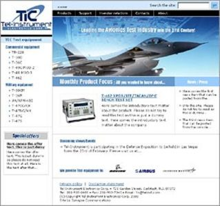 Website for Avionics Test & Measurement Solutions Provider 'telinstrument'