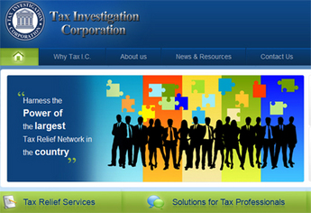Website for Tax Investigation Corporation Company 'TIC' Using PHP