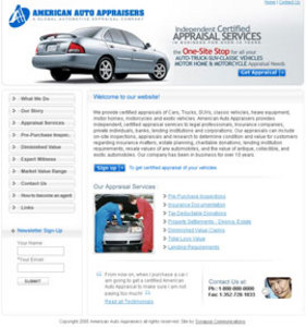 Website for American Auto Appraisers 'AAA' Using PHP