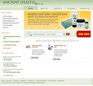 PHP Based Website Enhancement - Ancient Health Tips