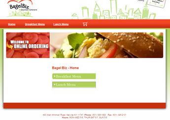 PHP and MySQL Based Online Store - Bagel Biz