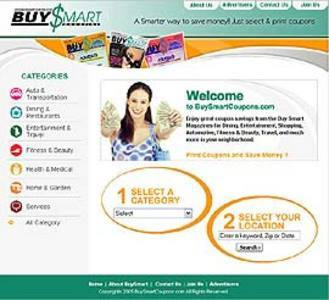 Website for Discount Coupons Provider 'BuySmartCoupons' Using PHP