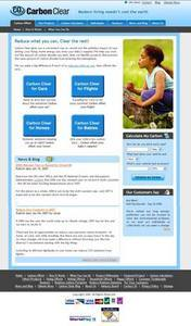 Website for Carbon Clean Solutions Provider 'Carbon Clear' Using PHP