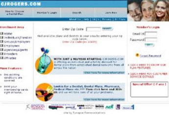 Website for Dental Insurance Provider 'CJRogers' Using PHP
