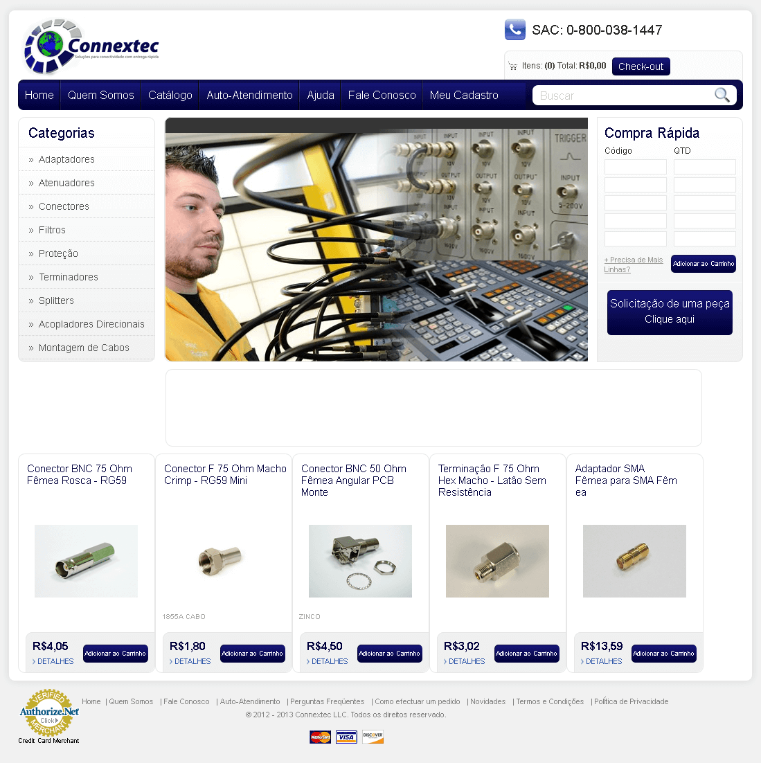 Website for RF Connectivity Solutions Provider 'Connextec' Using PHP