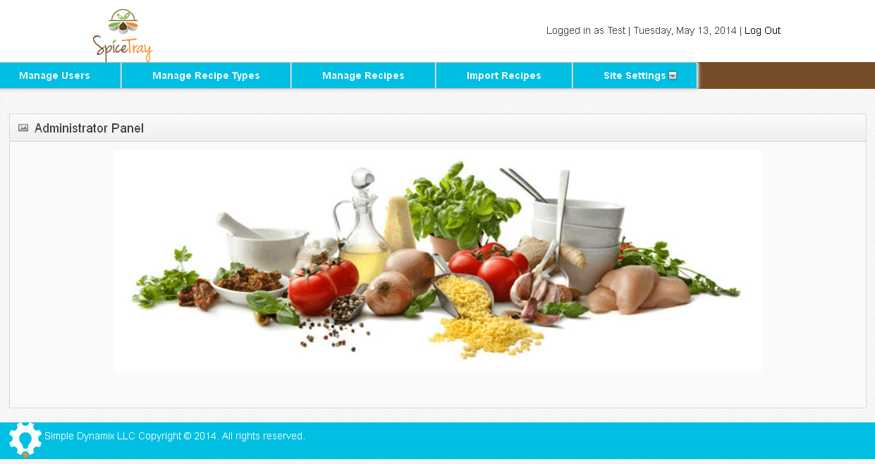 Development of Admin Panel for a CakePHP Powered Receipe Website