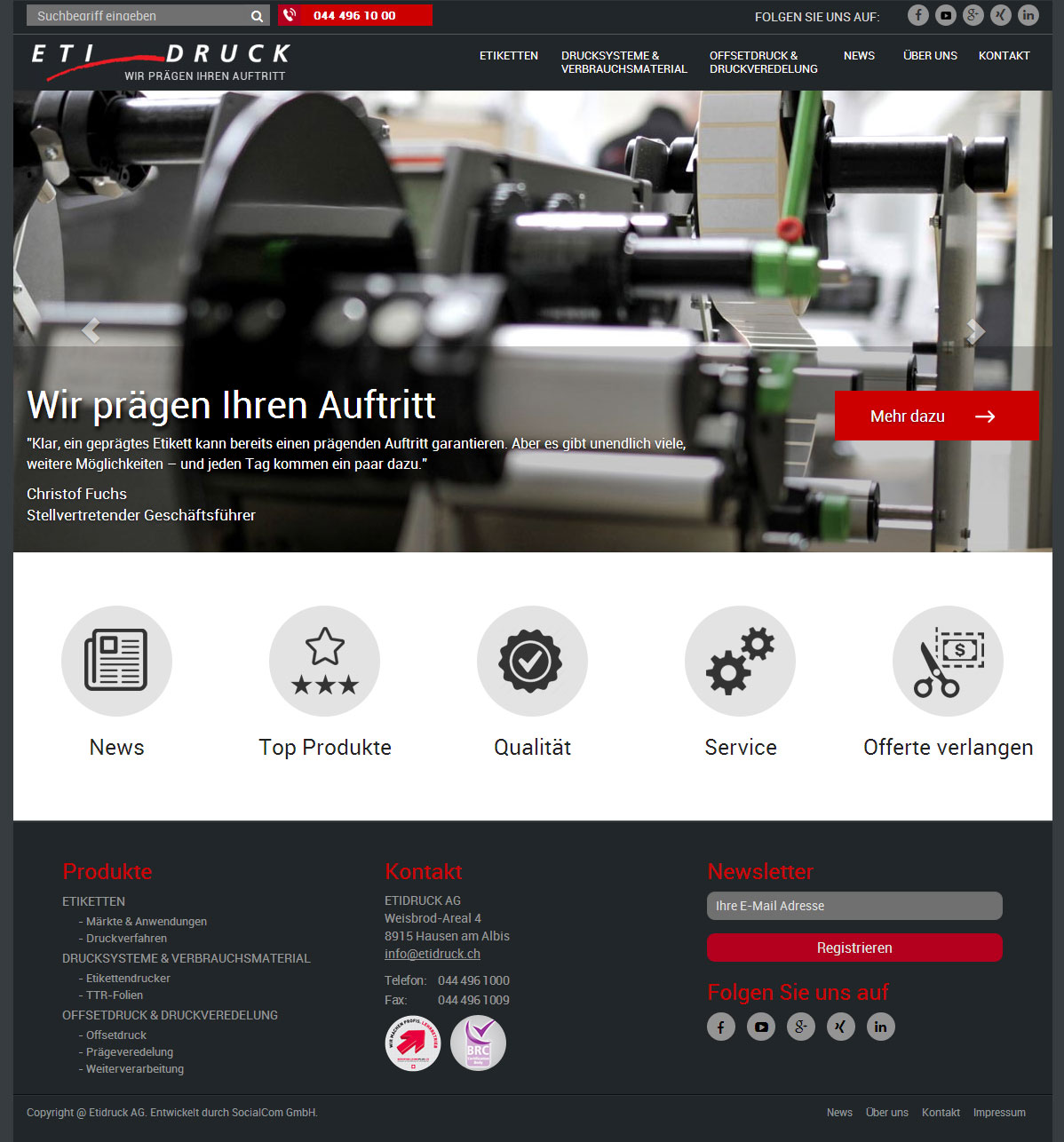 A WordPress Based Customized Label Printing Website