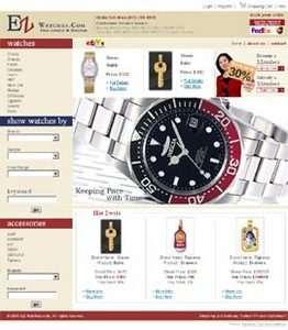 Website for Consumer 'EZ' Using PHP – Online Watch & Jewelry Seller